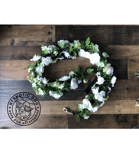 Wedding White Roses Flower Leash