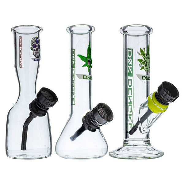 "4.5"" D&K Mini Glass Hookah Water Pipe - Head Hunters Smoke Shop"