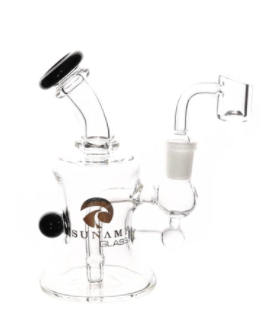 6″ Tsunami Concentrate Rig Mini Micro - Head Hunters Smoke Shop