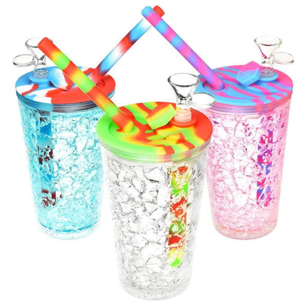 Cooling Freeze Travel Cup Bubbler - Head Hunters Smoke Shop