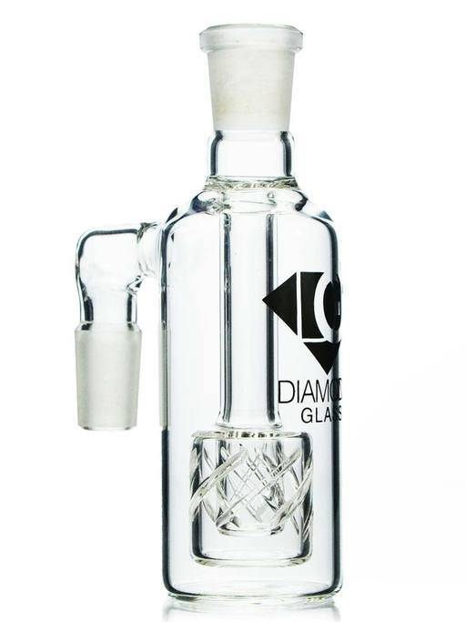 Diamond Glass Ash Catcher w/Reti Percolator - Head Hunters Smoke Shop