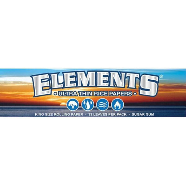 Elements Rice Rolling Papers - Head Hunters Smoke Shop
