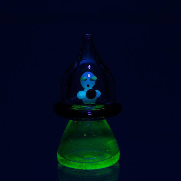 Glow in the Dark Martian Carb Cap - Head Hunters Smoke Shop