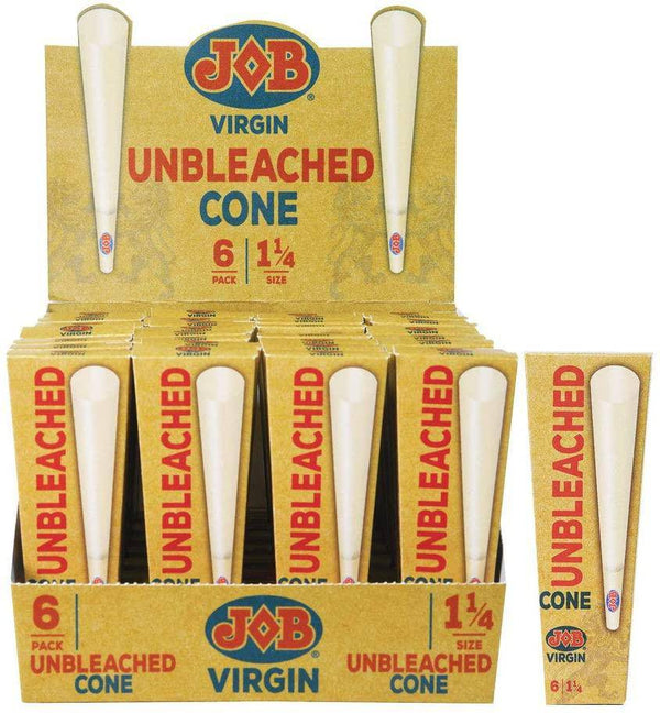 JOB Virgin Unbleached Cones - Head Hunters Smoke Shop