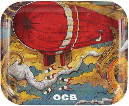 Large OCB Rolling Trays - Head Hunters Smoke Shop