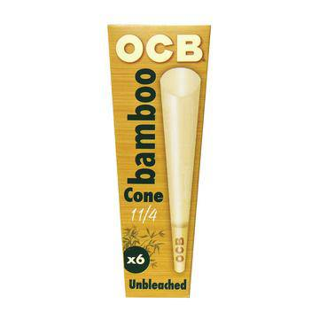 OCB Bamboo Unbleached Cones - Head Hunters Smoke Shop