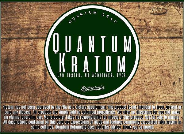 Quantum Kratom Powder - Head Hunters Smoke Shop