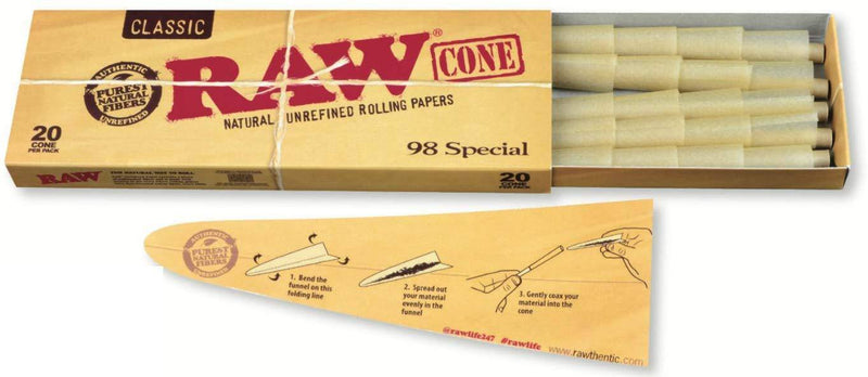 Raw Pre-Rolled Cones - Head Hunters Smoke Shop