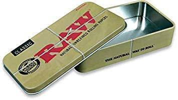 RAW Rolling Metal Tin - Head Hunters Smoke Shop