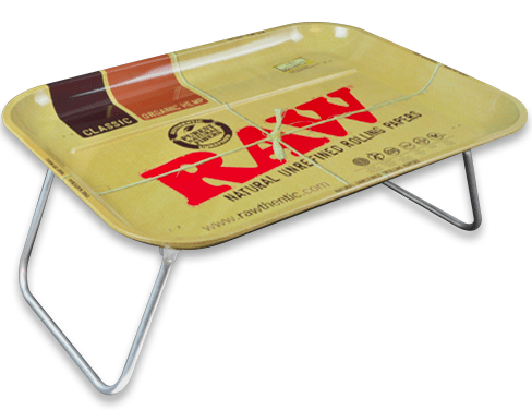 Raw Rolling Tray with Legs - Head Hunters Smoke Shop