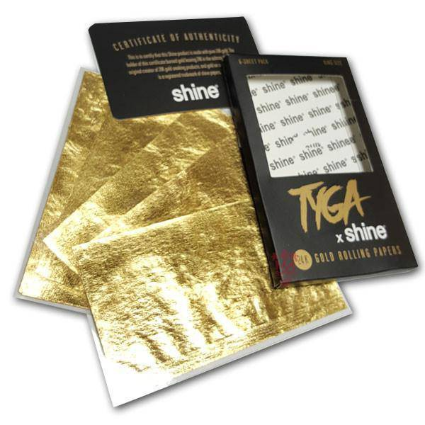 Shine Tyga 24k Gold Rolling Papers - Head Hunters Smoke Shop