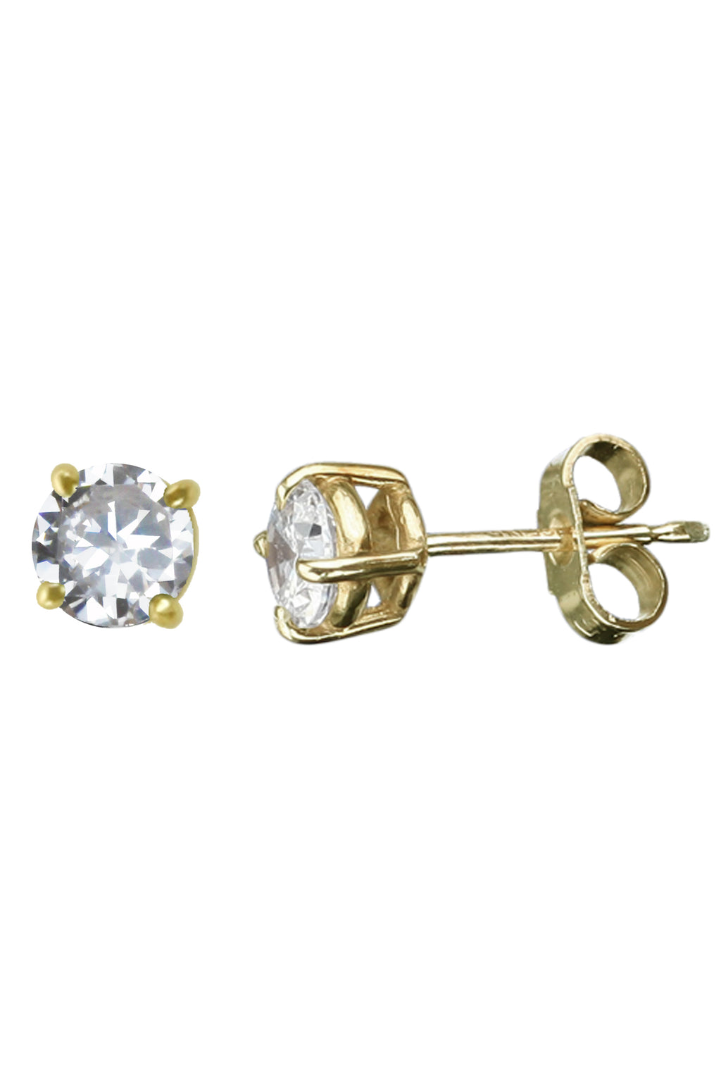 Cubic Zirconia Gold stud earrings