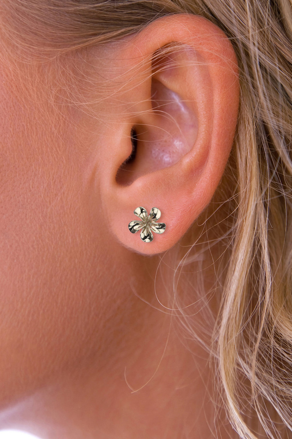 Gold Flower Stud Earring