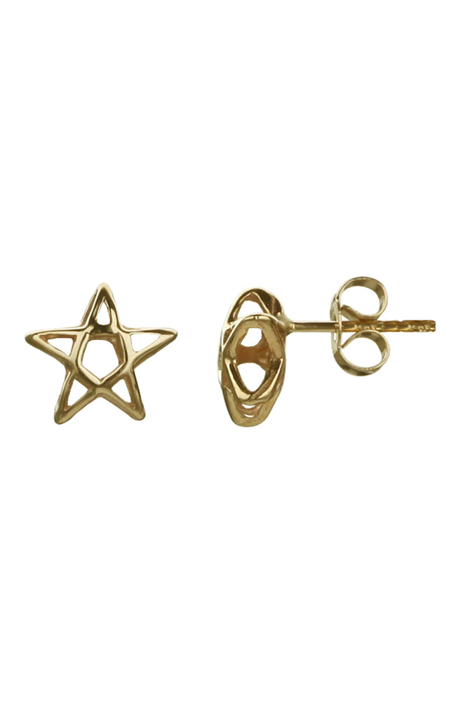Gold Star Stud Earrings | Nina B Jewellery