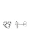 White Gold Heart Earrings / Nina B Jewellery