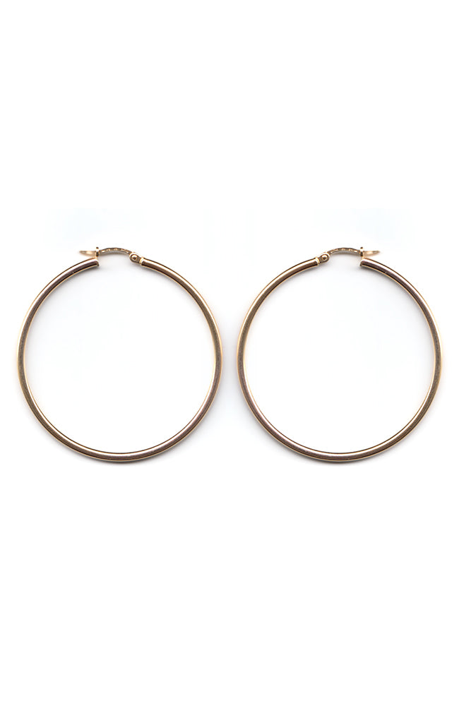 Gold Hoop Earrings | Nina B Jewellery