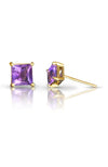 Amethyst Gold Stud Earrings / Nina B Jewellery