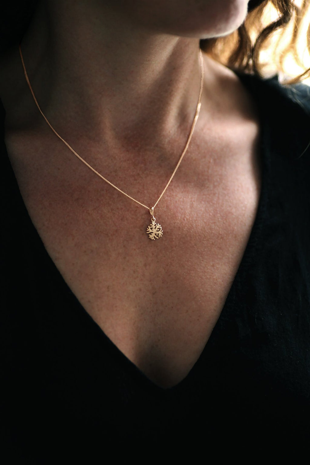 Gold Branch Pendant