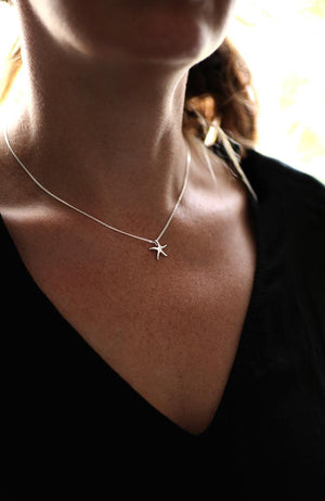 White Gold Starfish Pendant