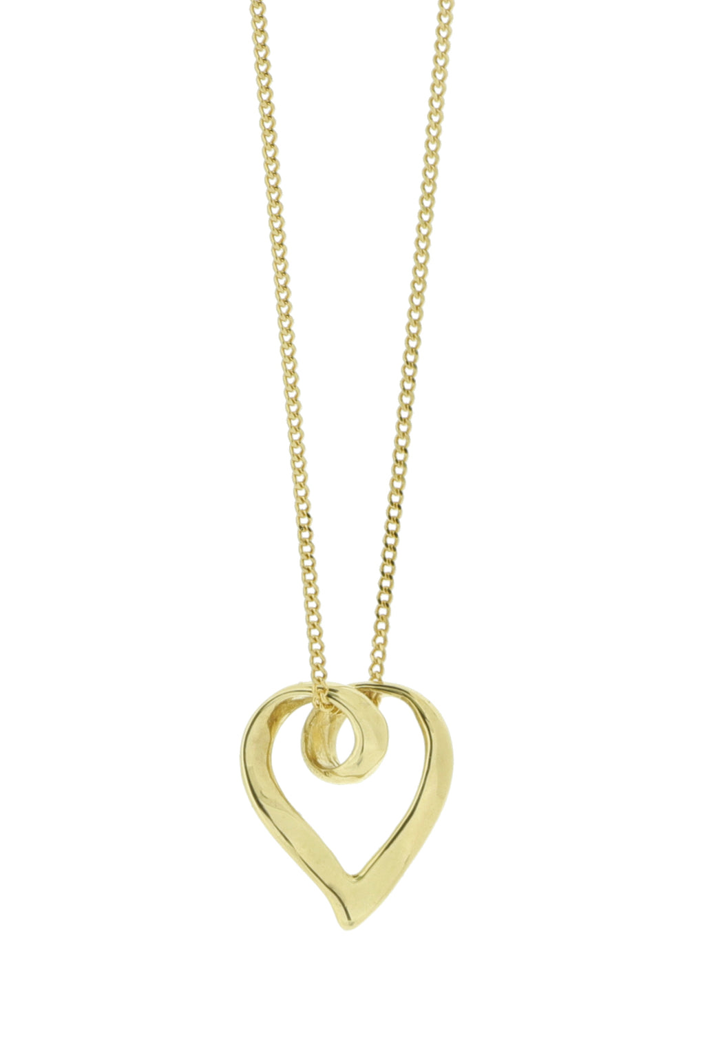 9ct Gold Pendant Twisted Heart