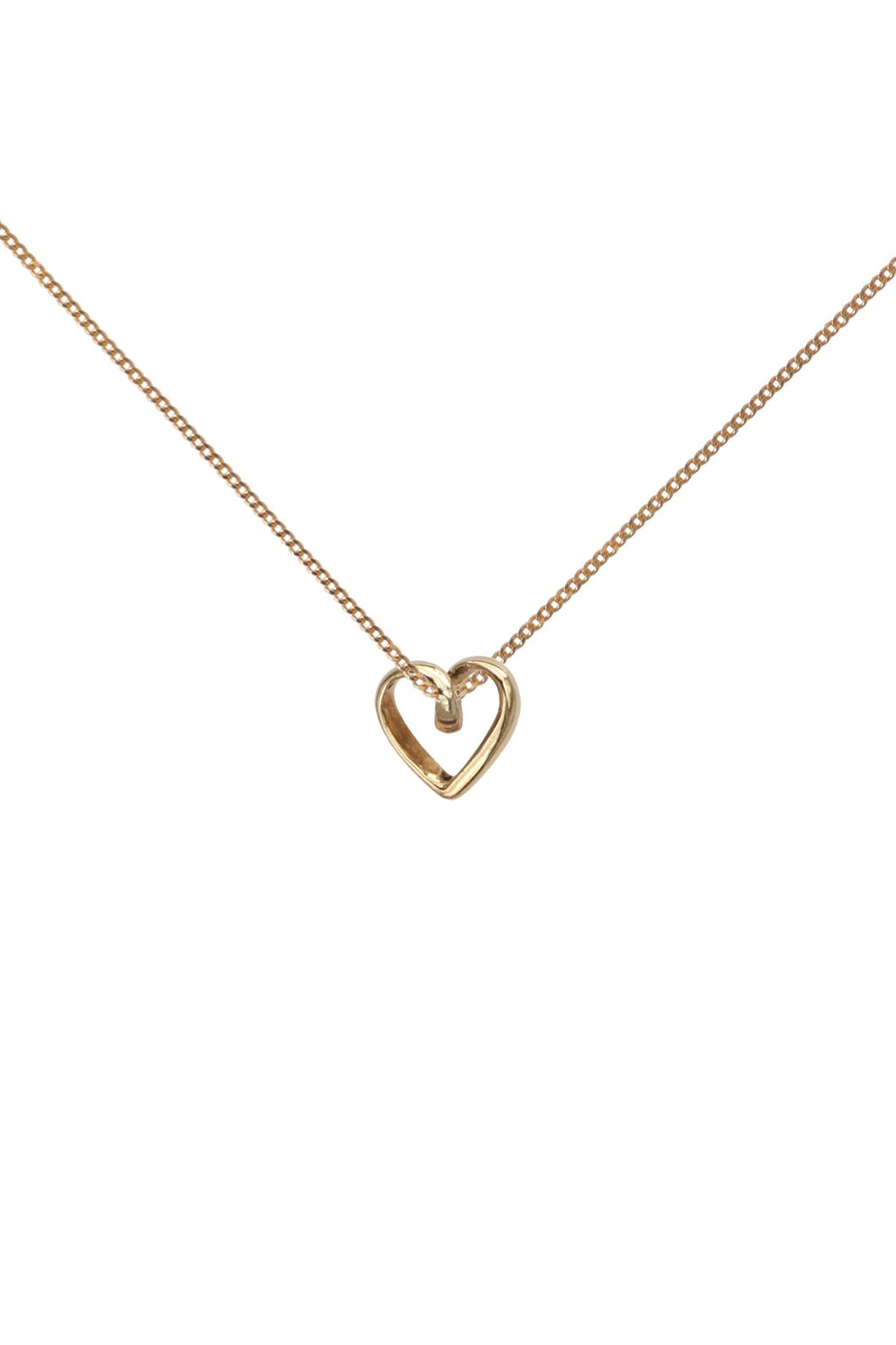 Gold Heart Pendant + Chain