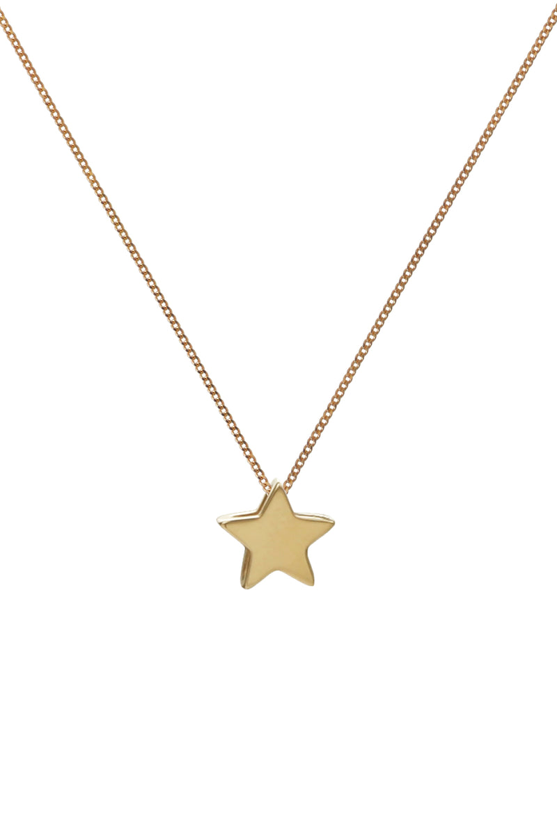 Solid Gold Star Pendant