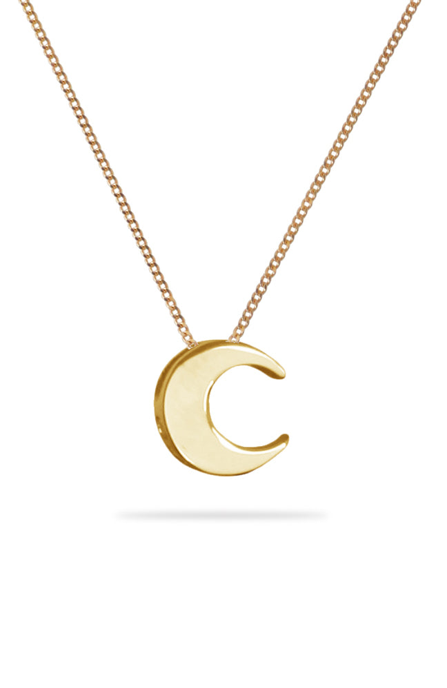 Gold Moon Pendant | Nina B Jewellery