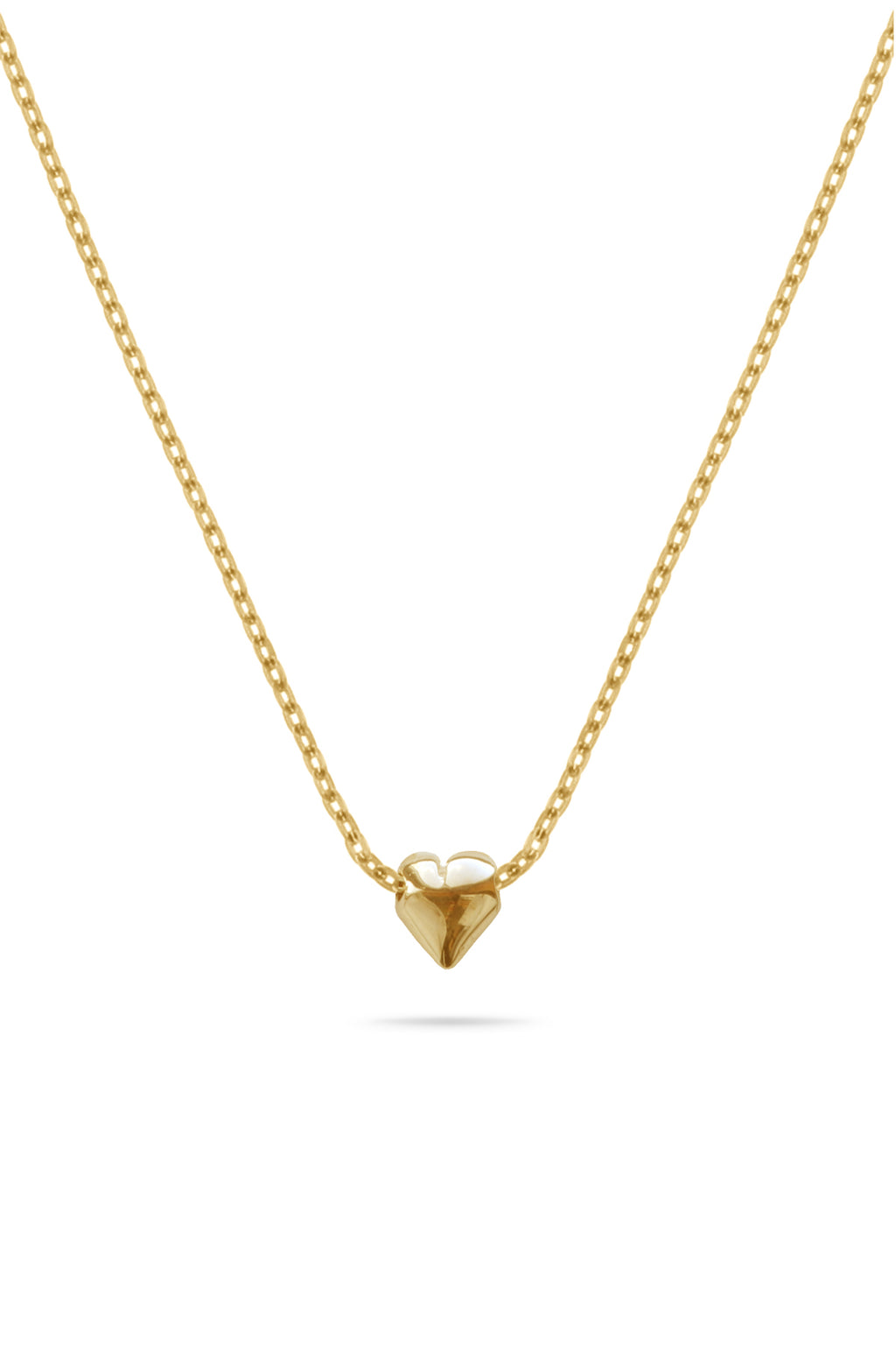 Gold Tiny Heart Pendant