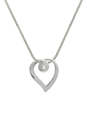 White gold heart pendant / Nina B jewellery