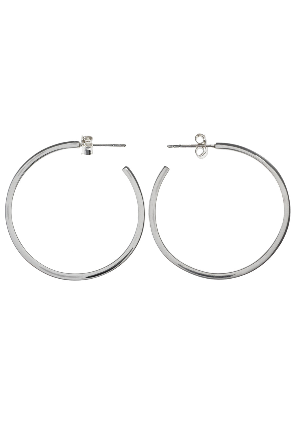 Slim Silver Hoop Earrings