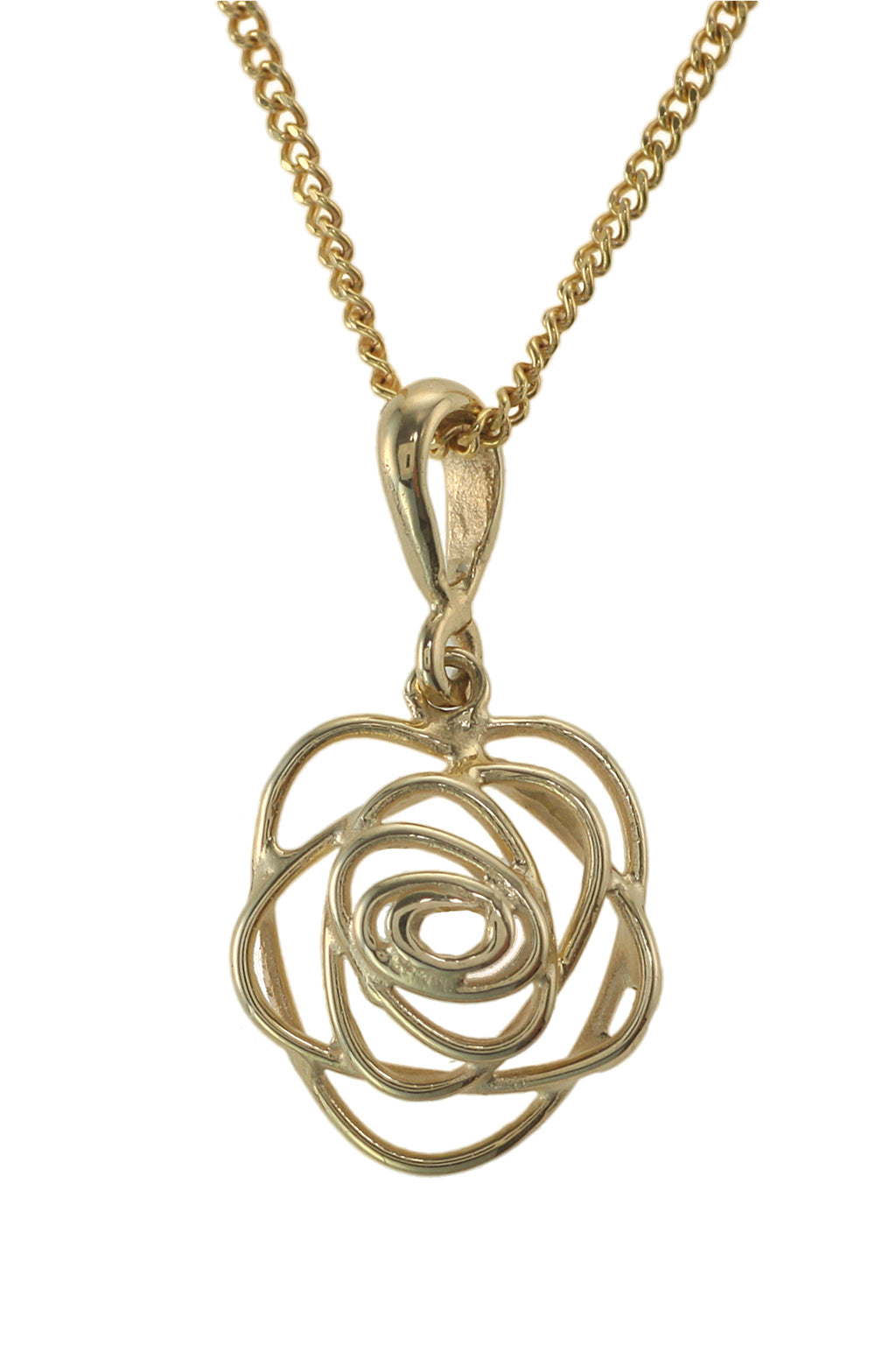 Gold Rose Design Pendant