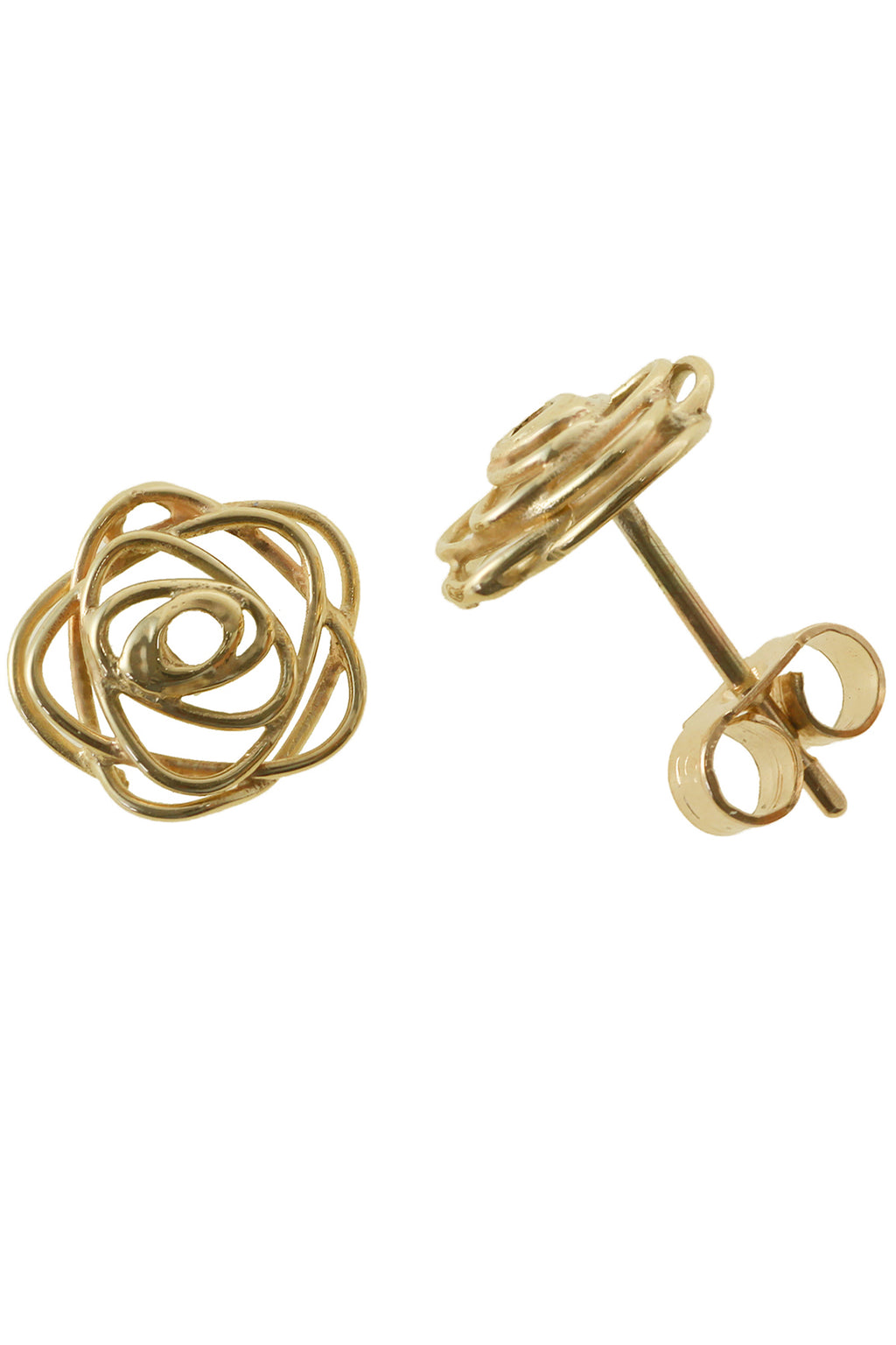 Gold Rose Design Earring