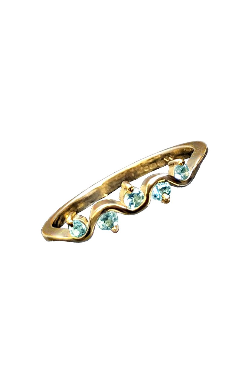 Aquamarine Gold Ring / Nina B Jewellery