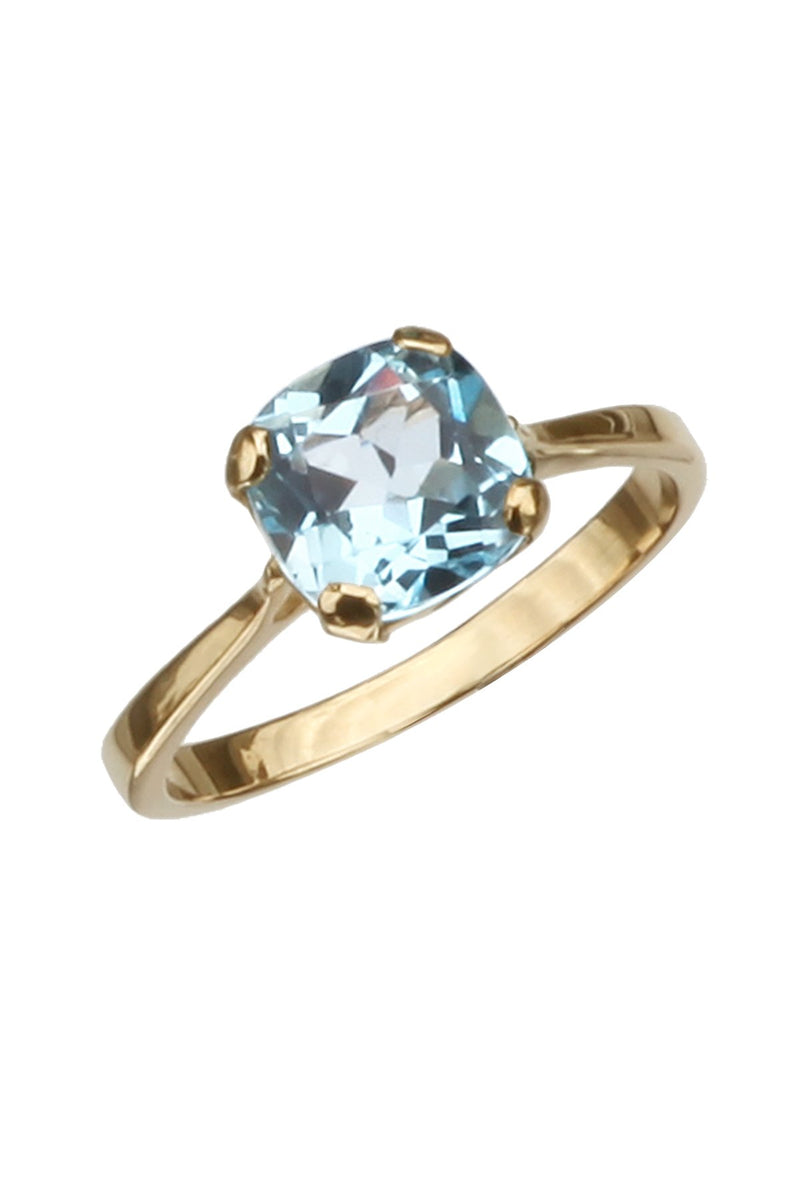 Blue Topaz yellow gold ring / Nina B Jewellery