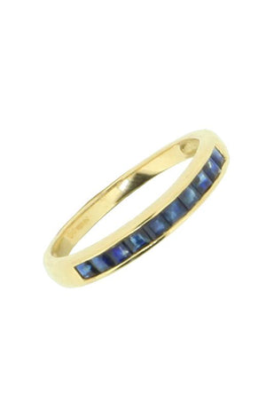 Tricolour Sapphire, Emerald & Ruby Gold Stacking Ring
