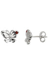 Silver butterfly stud earrings / Nina B Jewellery