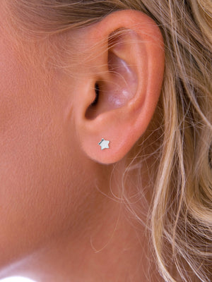 Silver Mini Star stud earrings