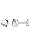 Silver cube stud earrings / Nina B Jewellery