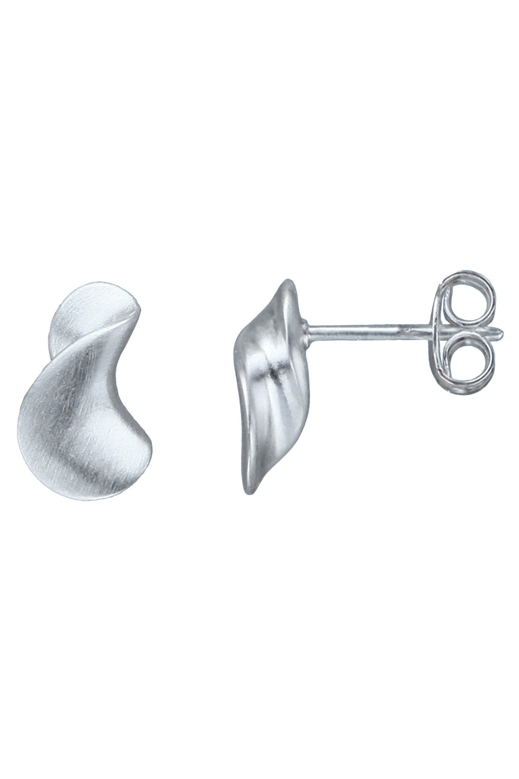 Silver Pegasus Twist Stud Earrings / Nina B Jewellery