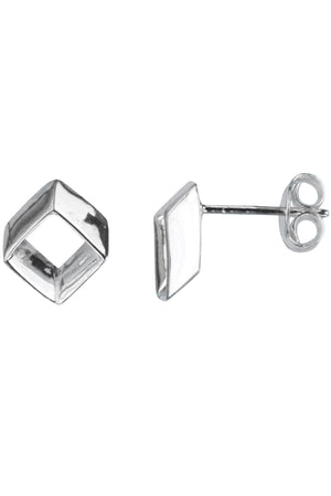 Silver Open Stud Earrings