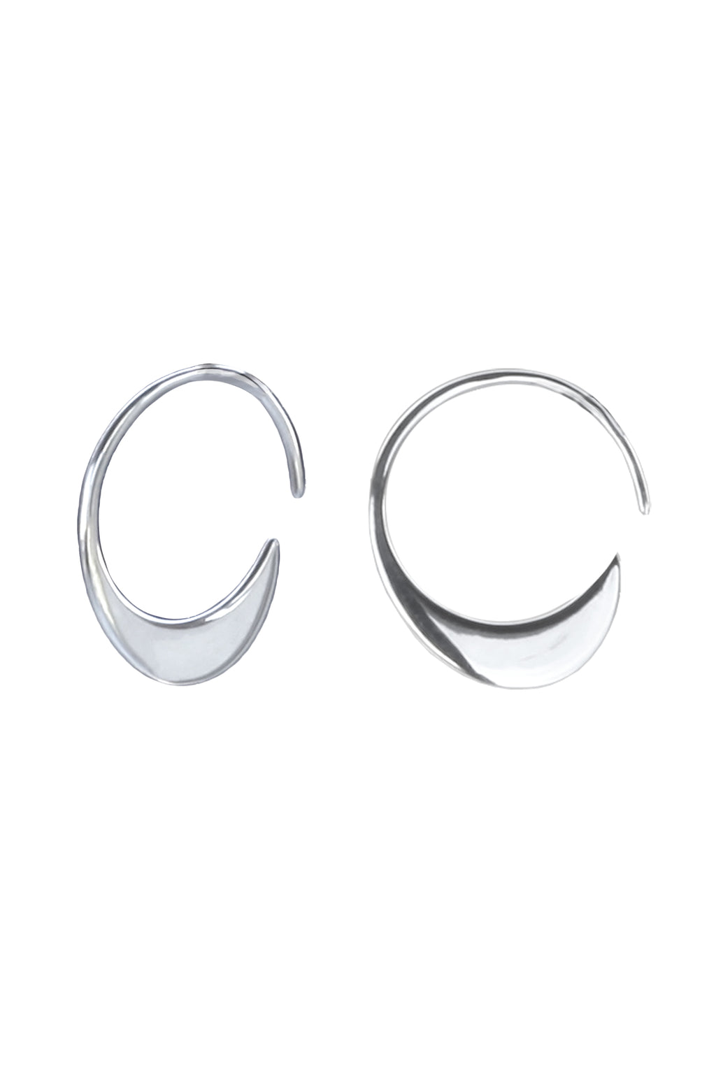 Slim Crescent Hoops