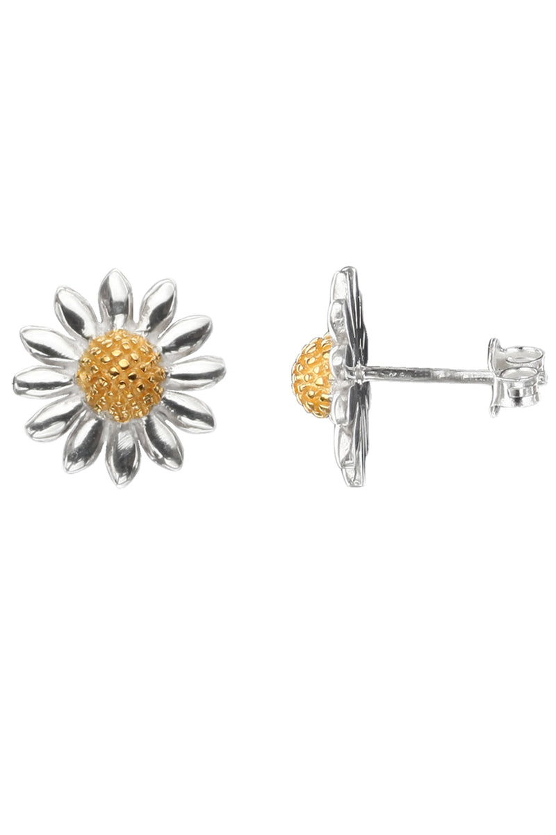 Daisy Stud Earrings / Nina B Jewellery / Silver Studs