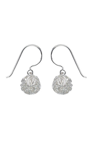 Silver Nest Drop Earrings / Nina B Jewellery