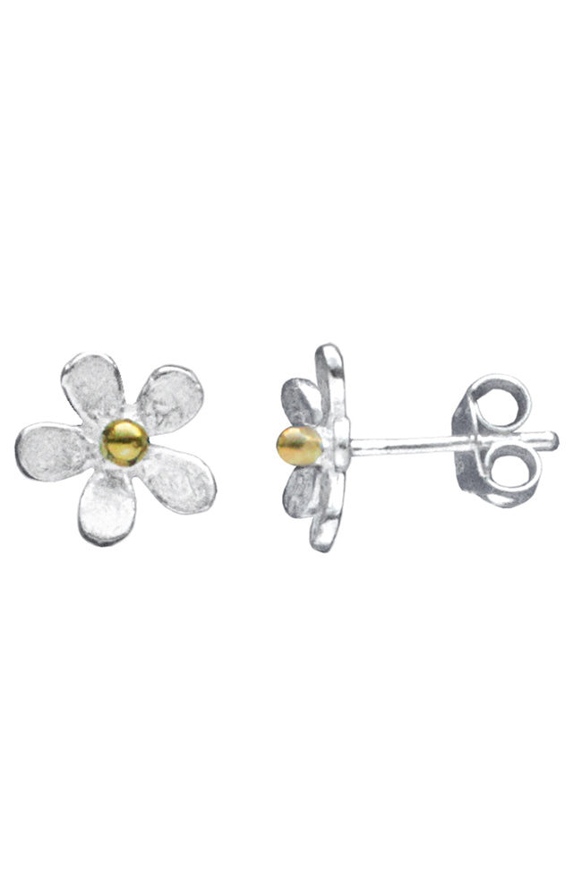 Silver daisy stud earrings / Nina B Jewellery
