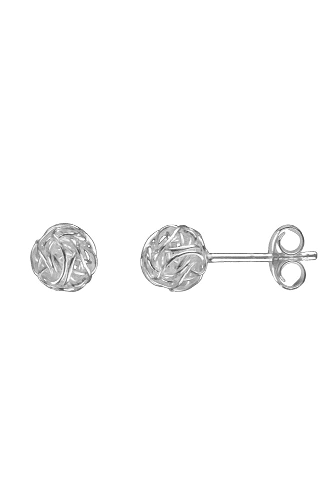 Sterling Silver Nest Stud Earrings