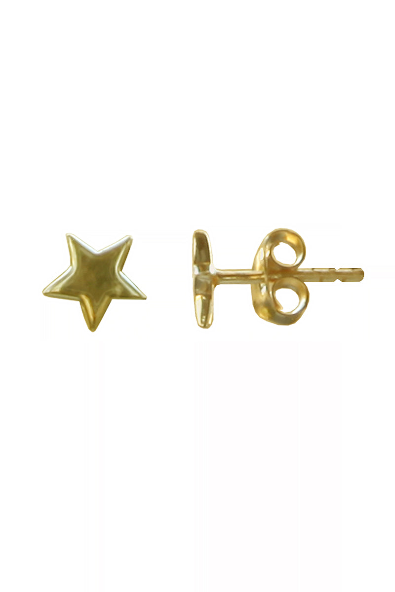 Gold Plated Silver Star Earrings