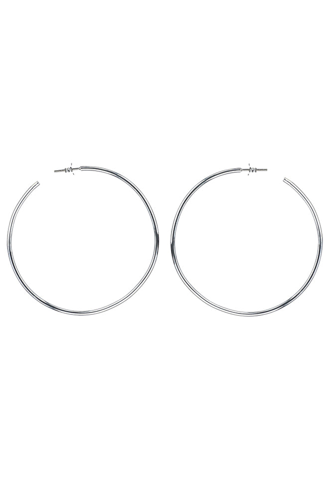Silver slim hoops / Nina B Jewellery