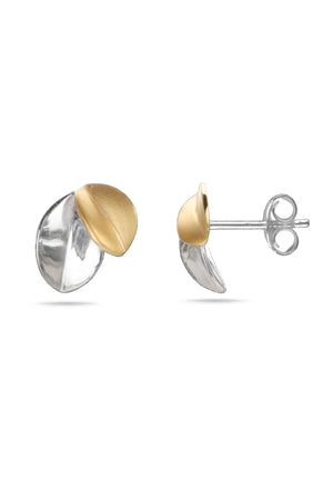 Silver & Gold Plated Petal Studs