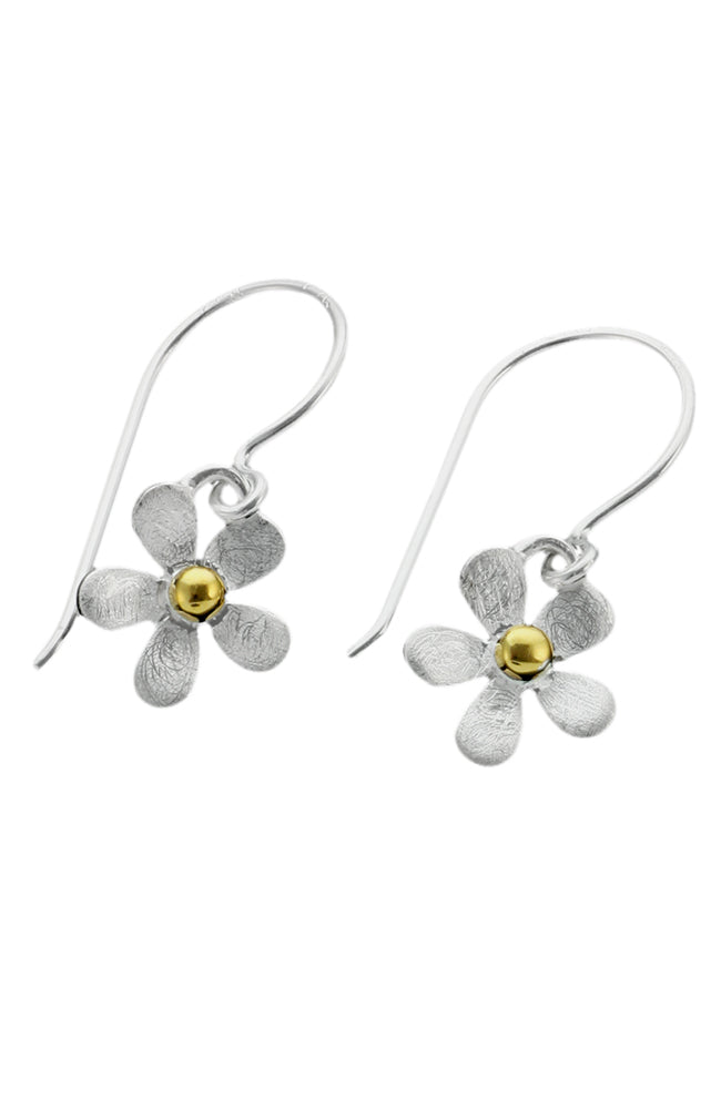 Silver Flower Drop Earrings | Nina B Jewellery