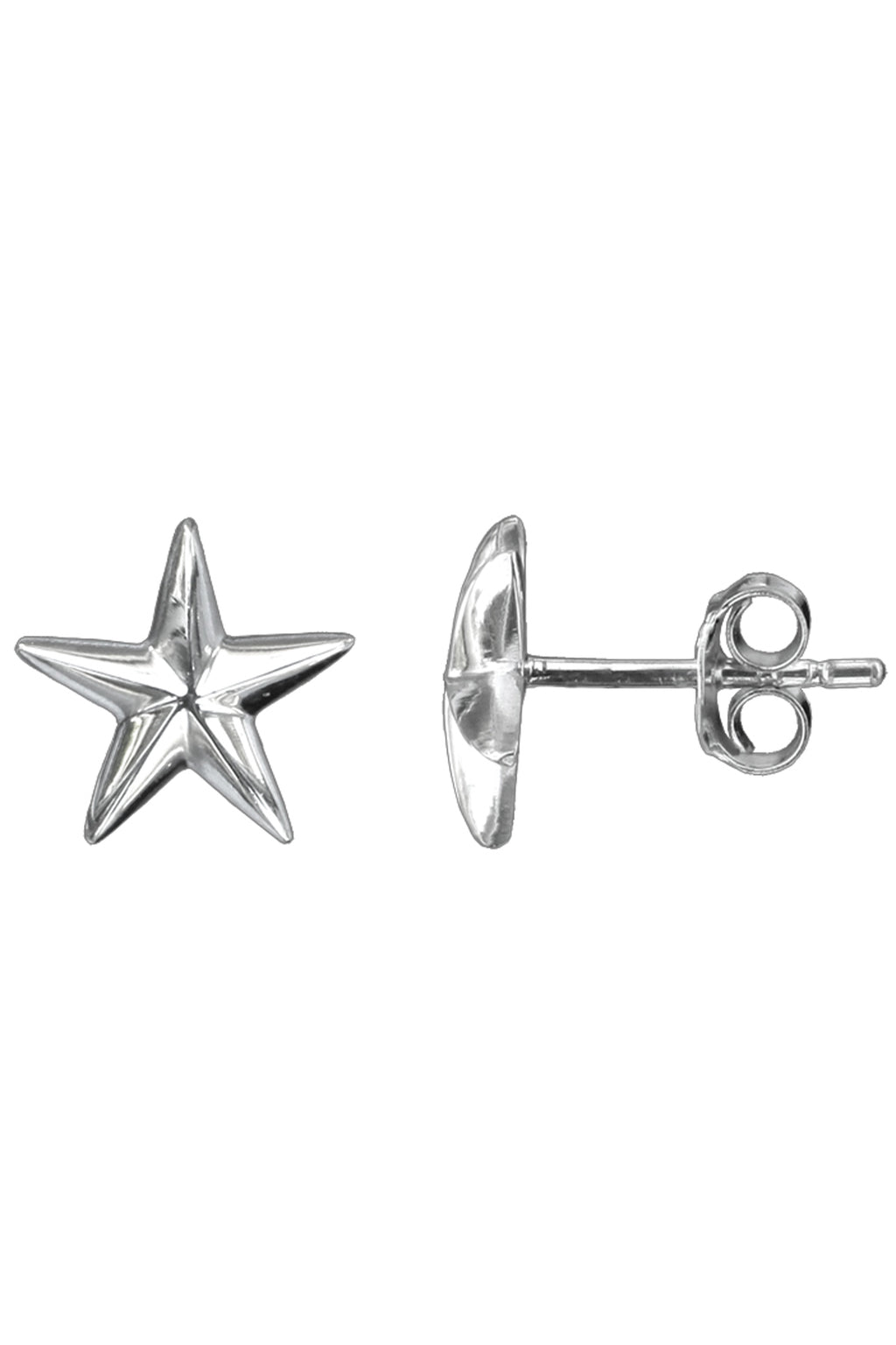 Silver Star Stud Earrings / Nina B Jewellery